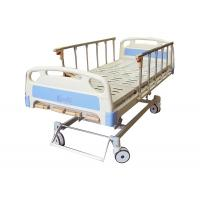 China 5 Functions Manual Hospital Bed With Folding Aluminium Alloy Handrails on sale