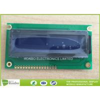 China STN Blue Negative 16x2 Character LCD Module Customized For Game Player on sale