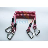 Best High Strength Strong Coil Tool Lanyard Transparent Red PU Material Cover wholesale