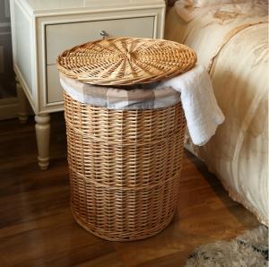 China wicker laundry basket on sale
