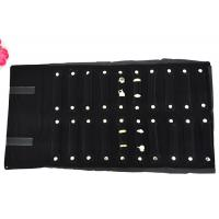 Best 550*300mm Velvet Jewelry Roll Up Case Black Color For Rings Packaging wholesale