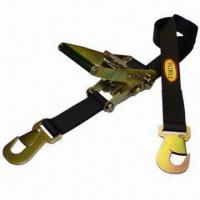Best Black Polyester Ratchet Tie Down Strap with Snap Hook wholesale