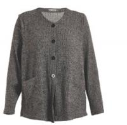Best Button Closure Grey Color Womens Knit Cardigan , Regular Ladies Autumn Cardigans wholesale