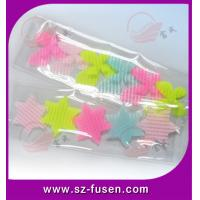 China Colored Nylon Decorative Velcro Hair Clips With Star , Custom & Durable wholesale