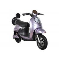 China Fast Charging Electric Motorcycle Scooter 55 Km / H Max Speed High Safety Purple on sale