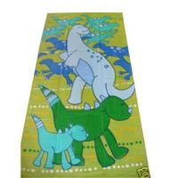 China Terry velour reactive printed beach towel on sale