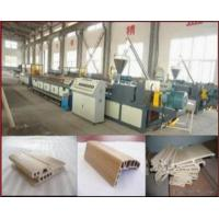 China Wpc Door Profile Production Line/wood Plastic Machine on sale