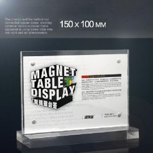 Best A4 Size Menu Acrylic Holder Stand Plexiglass Sign Holder 150mm×100mm wholesale