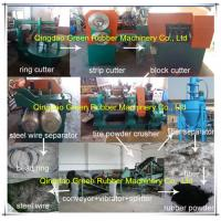 China Semi-Automatic Rubber Tyre Recycle Machine on sale