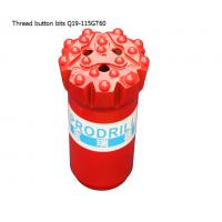 Best GT60 15 buttons 115mm tungsten carbide hard rock drilling thread button bits for mining wholesale
