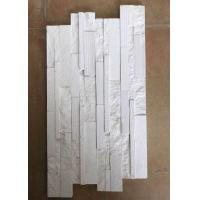 Buy cheap Natural slate marble culture stone sawn cut split China white color from wholesalers