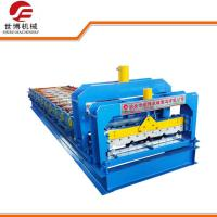 Best 840mm Color Steel Glazed Tile Roll Forming Machine With Hydraulic Cutter wholesale