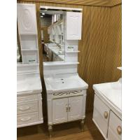 Buy cheap 60cm Wall PVC Bathroom Cabinet / Single Bowl Bathroom Vanities With Mirror from wholesalers