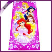China 100% Cotton Printing Disney Princess Velour Beach Towel 70*140cm on sale