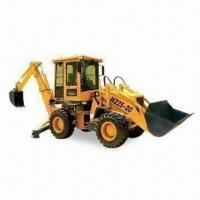 Cheap Bucket Backhoe Loader with 4,190mm Turning Radius and 50kW Power at 2,400rpm for sale