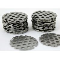 China Silver Color Perforated Stainless Steel Mesh , Stainless Steel Punch Plate Smooth Surface on sale