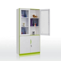 China Glass Door H185cm W90cm Stylish Filing Cabinets on sale
