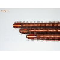 Buy cheap Heat Transferring Copper Finned Tube Flexible for Coaxial Evaporators 10.2mm Inner Dia product