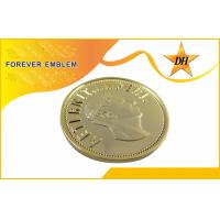 Best Shiny Gold Custom Metal Tokens , 3D Effect Gold Plating Military Metal Coins wholesale