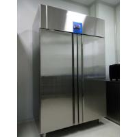 China Bakery Refrigeration Vertical Stainless Steel Fridge Freezer With Embraco Compressor on sale
