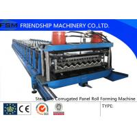 China Automatic Galvanized Steel Silo Corrugated Wall Sheet Roll Forming Machine on sale