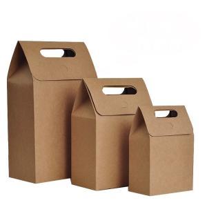 Best Die Cut Personalized Brown Paper Bags High Tear Resistance Windowed Handle wholesale