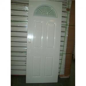 Best 4 panel with half moon glass door,  half moon tempered glass door, interior panel glass door wholesale