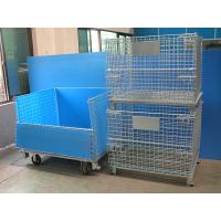 Buy cheap Galvanised Foldable Pallet Wire Storage Cages Containers , Security Cages For from wholesalers