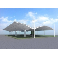 China 1050gram Membrane Tensile Car Parking Shade Weather Resistance on sale