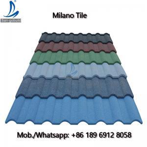 Best San-gobuild Storm Resistance 0.4 mm Milano Tile Zinc Aluminum Corrugated Roofing Sheet for Nigeria wholesale