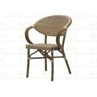 Best Outdoor Dining Chairs Aluminum Rattan Chair for Commercial Restaurant & Cafe wholesale