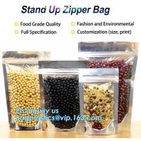 Best Snack Zipper Stand Up Pouch Food Flexible Zipper Packaging Square Bottom wholesale