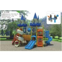 Best Fashion Plastic Wooden Train Playground , Outdoor Playground Set For Kids wholesale