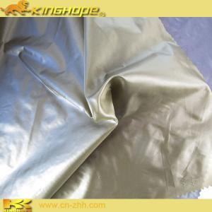China Nylon glint fabric PU milky coating on sale