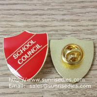 soft enamel lapel pin with epoxy covered