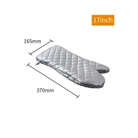 Best Bakest Factory Price Silver Coated Fireproof Baking Microwave Cotton Cheap Custom Oven Mitts wholesale