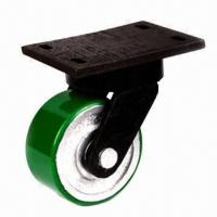 Best 200mm Polyurethane Cover Cast-iron Industry Caster Wheel with 75mm Tread Width wholesale
