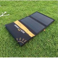 Solar Charger Foldable 21W Solar Panel with 2USB Ports Waterproof Camping Travel for iPhone Xs XR X 8 7 Plus, iPad
