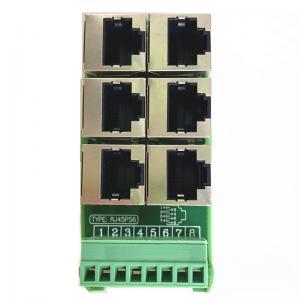 China RJ45 Female Jack 8P8C 6 Port Hub to 8 Pin Screw Terminal Block Adapter for Servo Application on sale