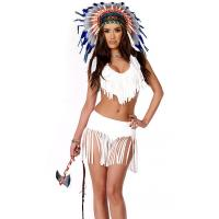 Best High quality Indian Summer Sexy Native American Costume Wholesale with Size S to XXL Available wholesale