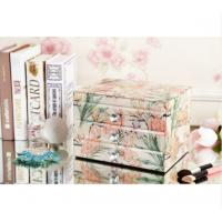 Best Home Decoration Square Mirrored Glass Jewellery Box With Drawers High Hardness wholesale