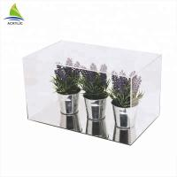 Best Clear Acrylic Countertop Display Case Simple Style Black Top And Bottom Clear Custom Acrylic Box wholesale