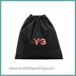 Best customized black cotton drawstring shoes bag,cotton shoes dust bag wholesale