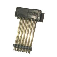 Best 2.54mm Pitch Box Header Connector Straight PBT Black , Add Plastic ROHS 12P wholesale