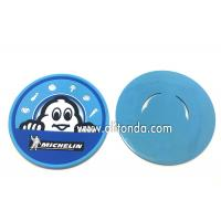 Best Soft pvc rubber silicone coaster custom MICHELIN round promotional coaster for Mcdonald KFC Starbucks wholesale