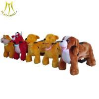 Best Hansel luna park equipment plush animal electronic dog toy rides for sale wholesale