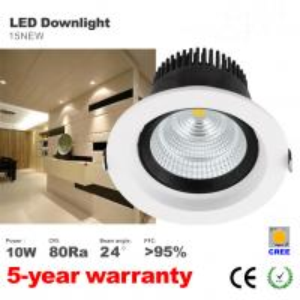 Best 10W LED light Hotel illumination anti-dazzle Recessed Downlights CREE COB LED lamp wholesale