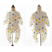Best 100% Cotton Printed Muslin Baby Pajamas Comfortable Absorbent For All Seasons wholesale