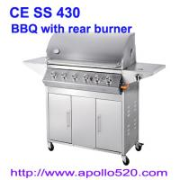 Gas Barbecue Grill with Rear Burner