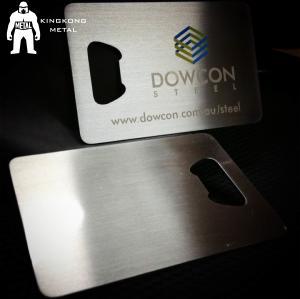 Metal Beer Bottle Opener Business Card ,  Poker Card Bottle Opener  Promotional